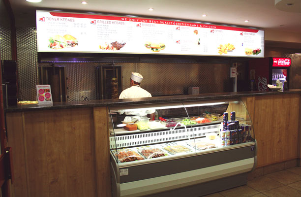 Best Kebabs shop counter and display cabinet